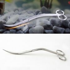 10in 25cm Aquarium Wave Scissor Curved Pruning Water Plant Fish Tank Clean Tool