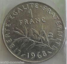 1 franc semeuse 1968 : TTB : pièce de monnaie française
