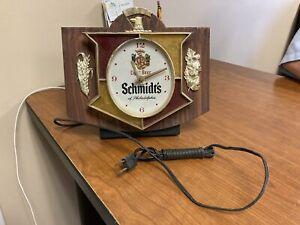Vintage SCHMIDT'S Light Beer Eagle Clock