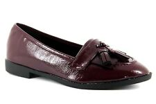 ASOS Minkie Womens UK 4 EU 37 Oxblood Red Patent Flat Loafers Shoes FREE P&P
