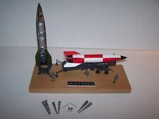 1/69 Revell Built V-2 Rocket, Meillerwagon Trailer, Launch Pad & Wood Base