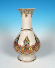 Art Deco Indo-Persian Polychrome Enamel *Gold* Porcelain Vase French Chinoiserie