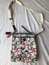 Coach Ikat Scribble Swingpack Crossbody Shoulder Bag Pastel Pink Multi 49495