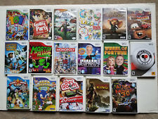 Lot of 17 Nintendo Wii Games- Complete disk/manual/Good Condition