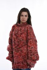 Hand Knitted Mohair Wool SWEATER Fuzzy Soft Handmade Pullover  by SSEu