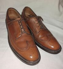 Florsheim Imperial Vtg 93602 Brown 5 Nail V Cleat Usa Long Wingtip Sz 10