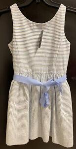 Ralph Lauren Polo Girls 14 year Blue White Stripped Dress BNWT Genuine RRP £109