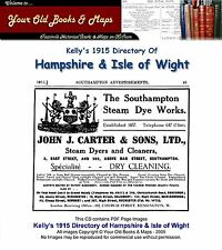 Kellys Directory of Hampshire & the Isle of Wight 1915 CDROM