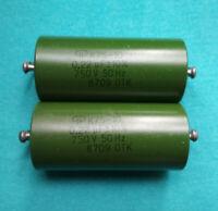 K75-10 2PCS  NEW NOS  0.22uF 750V 50Hz  +-10%