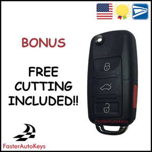 [CUT TO YOUR CAR] Complete Keyless Key with OEM Refurbished Chip for Volkswagen
