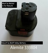 Rebuild / Rebuilt Battery service for Alemite 339804 12 V 3800 mAh NiMh