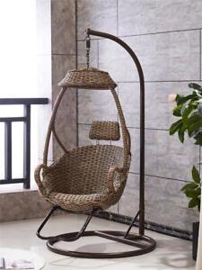 Natural Rattan Woven Indoor Swing Hanging Basket Rattan Chair Single Balcony