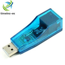 USB 2.0 To LAN RJ45 Ethernet Network Card Adapter 10/100Mbps blue for PC Laptop