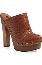 NEW Rachel Zoe 'Tam' Platform Clog Brown Size 8.5M $210 Awesome!