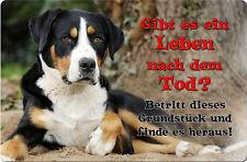 Großer SCHWEIZER Sennenhund - A4 Alu Warnschild Hundeschild SCHILD - GSS 06 T19