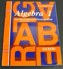 Algebra 1 An Incremental Development 3RD Edition Homeschool Packet