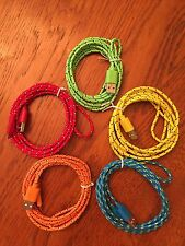 5x Pcs LOT 6ft 2M LONG BRAIDED COLOR MicroUSB Chargers HTC SAMSUNG ANDROID LG