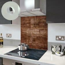 Premier Range Your Own Word Collage On A Glass Splashback In Wood Kitchen