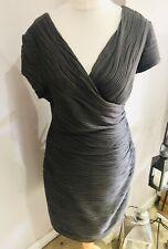 Joseph Ribkoff Grey Body Con Stretch Faux Wrap Dress Size UK 18 Party Evening