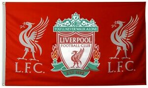 Liverpool FC You'll Never Walk Alone 3x5FT Flag red Banner US shipper.