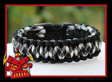 Paracord Survival Bracelet Cobra - Black & Black Combo