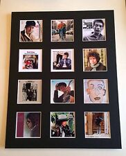 "BOB DYLAN 14"" BY 11"" LP COVERS PICTURE MOUNTED READY TO FRAME"