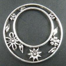 10pcs Tibetan Silver Flower Ring Connectors 35x2mm ad32060