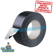 1 X BIG 50M ROLL*HEAVY DUTY* BLACK Gaffer Gaffa Duck Duct Cloth Tape 50mm x 50m