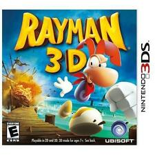 Family Friendly Rayman 3D (Nintendo 3DS, 2011) CIB ~~~ COMPLETE IN BOX ~~~
