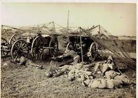 Les grandes manœuvres de l'Est,le repos des soldats,photo meurisse