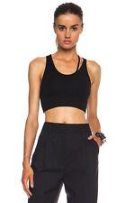 HELMUT LANG black stretchy Split Bind bra tank top bralette modal NEW $115 sz P