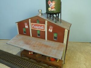 HO Scale Background Building  CAMBELLS SOUP CANNERY      (Weathered & Detailed)