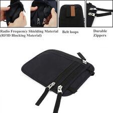 Travel Neck Pouch Passport Holder RFID Blocking Neck Wallet Hidden Wallets Black