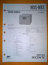 Sony MDS-MX1 Service Manual (original) Used