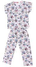Marvel Kid's Boy's Cherokee Uniform Captain Comics Scrub Top Pants Pajama Set -L