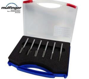 HM-Nutfräser-Set 6 teilig in Kunststoffbox Schaft 8 mm GUHDO