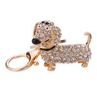 Fashion Dog Dachshund Keychain Bag Charm Pendant Keys Holder Keyring Jewelry  W6