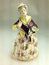 """ANTIQUE RARE FRENCH 1810'S L. JACQUOT """"LADY WITH PUPPY"""" PORCELAIN FIGURINE"""