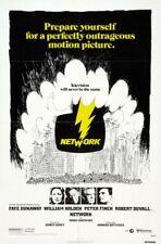 Network Original 27X41 One Sheet Movie Poster 1976 Peter Finch Faye Dunaway