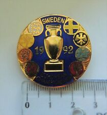 European football CHAMPIONSHIP 1992 Sweden crest badge pin anstecknadel 3D rare