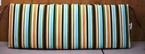 (1) Outdoor Patio Bench Settee Cushion ~ Anabella Stripe ~ 16.5 x 45.5 x 3.25 **