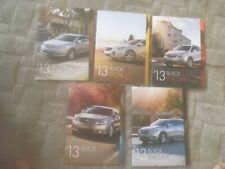 Buick. brochures x 5. 2013 USA. Lacrosse Regal encore Verano enclave