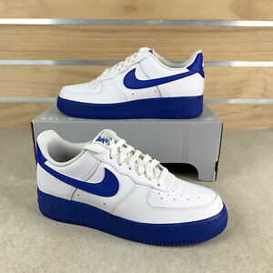 Nike Air Force 1 Low '07 White Game Royal Blue Midsole CK7663-103 Men's Size 9