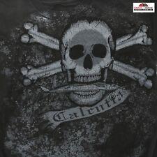 Calcutta Men's Small Kickback Skull T-shirt Skull Charcoal Gray ~ New