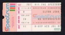 1976 Elton John concert ticket stub Spectrum Philadelphia Louder Than Concorde
