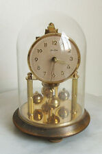 German Antique Clocks with Glass Dome
