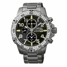 Seiko Men's Silver Chronograph Stainless Steel Watch SSC307