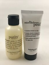 Philosophy Purity One Step Facial Cleanser & Microdelivery Peel  Set 2 Oz NEW