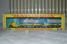 Matchbox Kingsize K-16 Dodge Trucks Tractor LKW with Twin Tippers Box