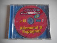 JEU PC - COLLEGE MULTIMEDIA N°15 / ALLEMAND & ESPAGNOL - 6e et 5e